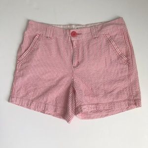 Pink and White Seersucker Shorts Size 8